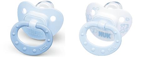 NUK Бебешки биберон залъгалка силикон 0-6 2бр BLUE 730.051